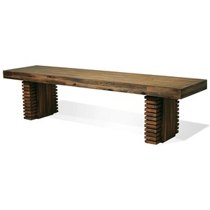 Riverside Furniture Modern Gatherings Dining Bench