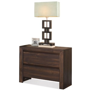 Riverside Furniture Modern Gatherings 2-Drawer Nightstand