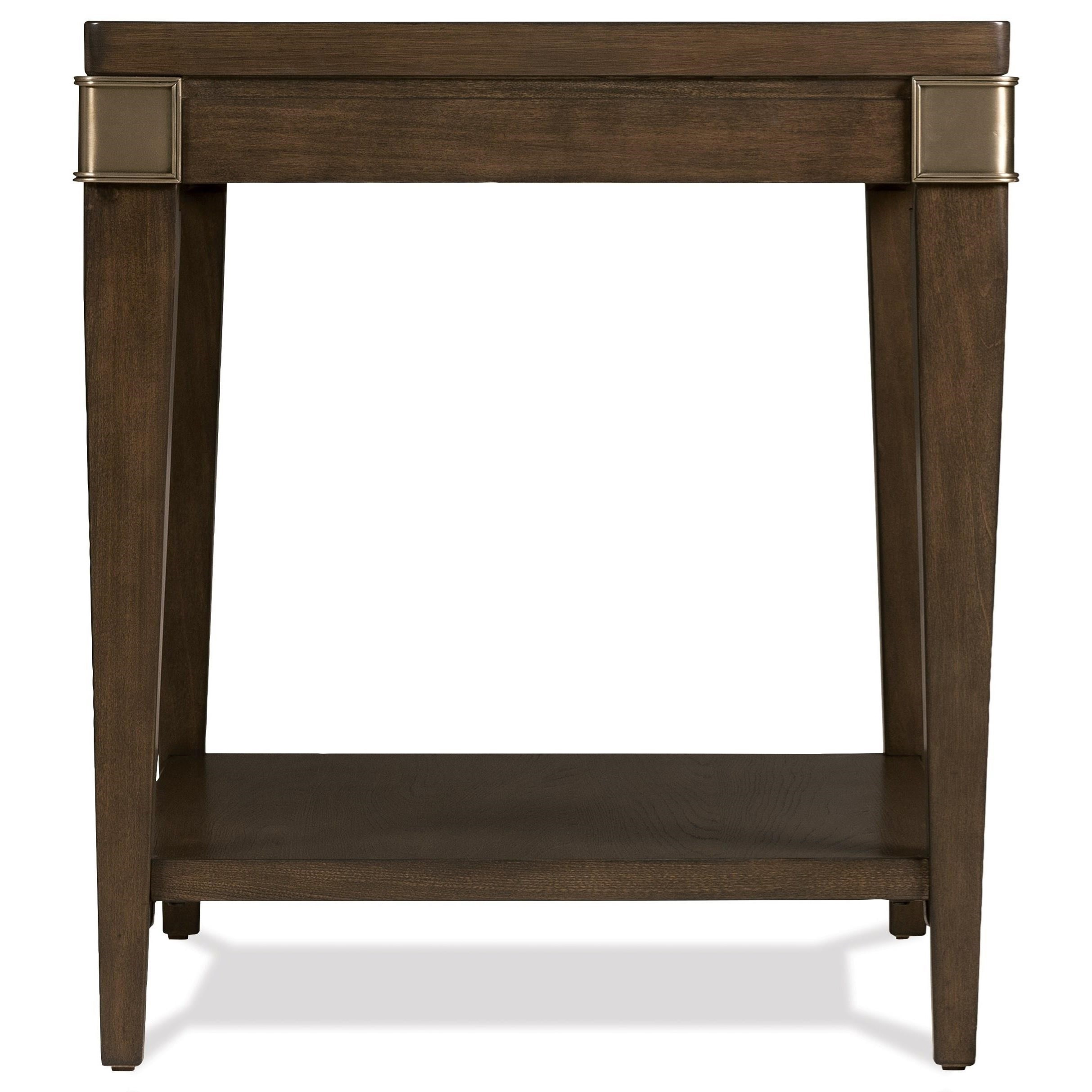 Monterey Leg End Table by Riverside Furniture at Zak's Home