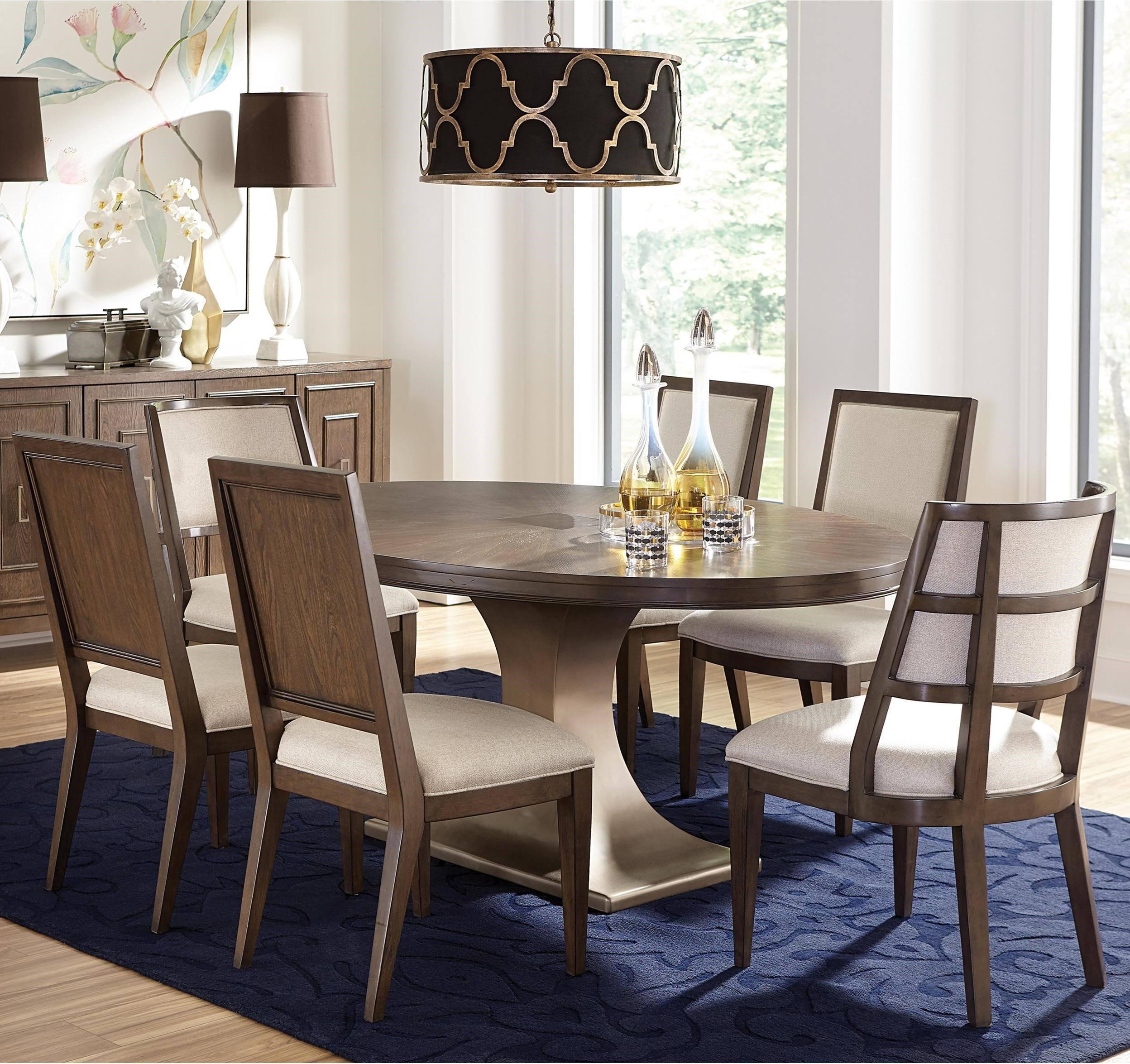 Monterey 7-Piece Table and Chair Set by Riverside Furniture at Zak's Home