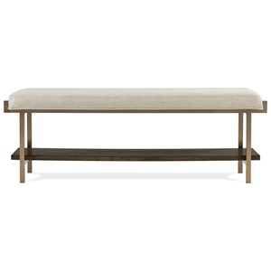 Transitional Upholstered Bed Bench