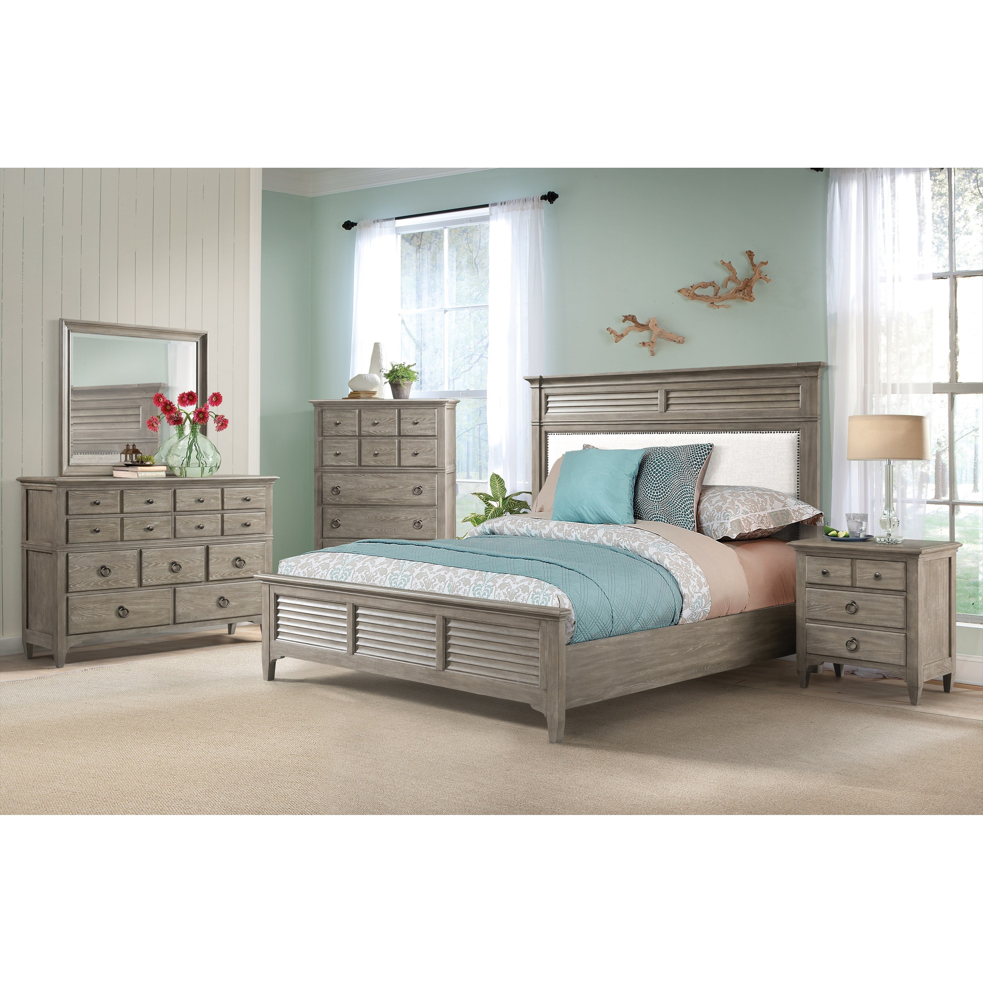 Myra King Bedroom Group by Riverside Furniture at Zak's Home