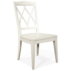 XX-Back Side Chair with Saddle-Shape Cutout Seat