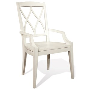 XX-Back Arm Chair with Saddle-Shape Cutout Seat