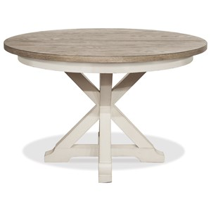 "Round Dining Table with 18"" Leaf"