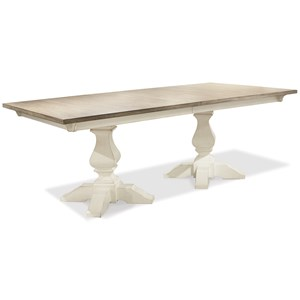 Rectangle Dining Table with Double Pedestals