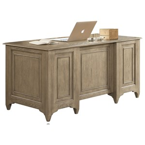 Executive Desk with File Drawers