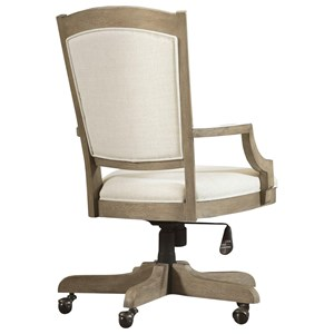 Upholstered Desk Chair with Casters