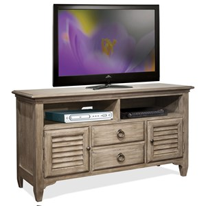 54-Inch TV Console with Louvered Doors