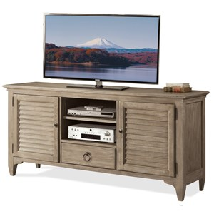 64-Inch TV Console with Louvered Doors