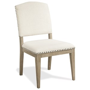 Upholstered Side Chair with Nail Head Trim