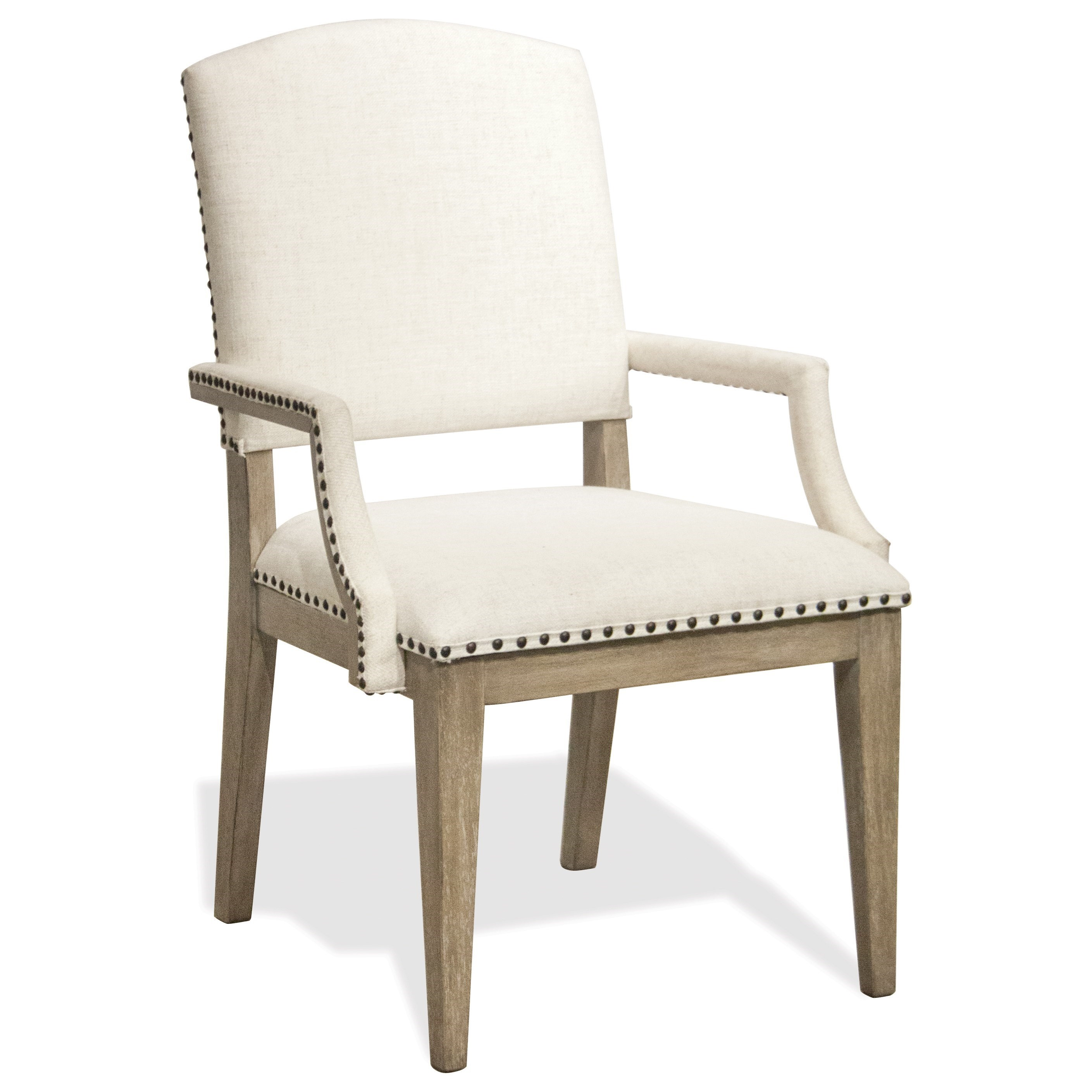 Myra Upholstered Arm Chair by Riverside Furniture at Mueller Furniture