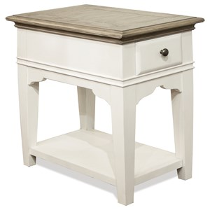Transitional 1-Drawer Chairside Table
