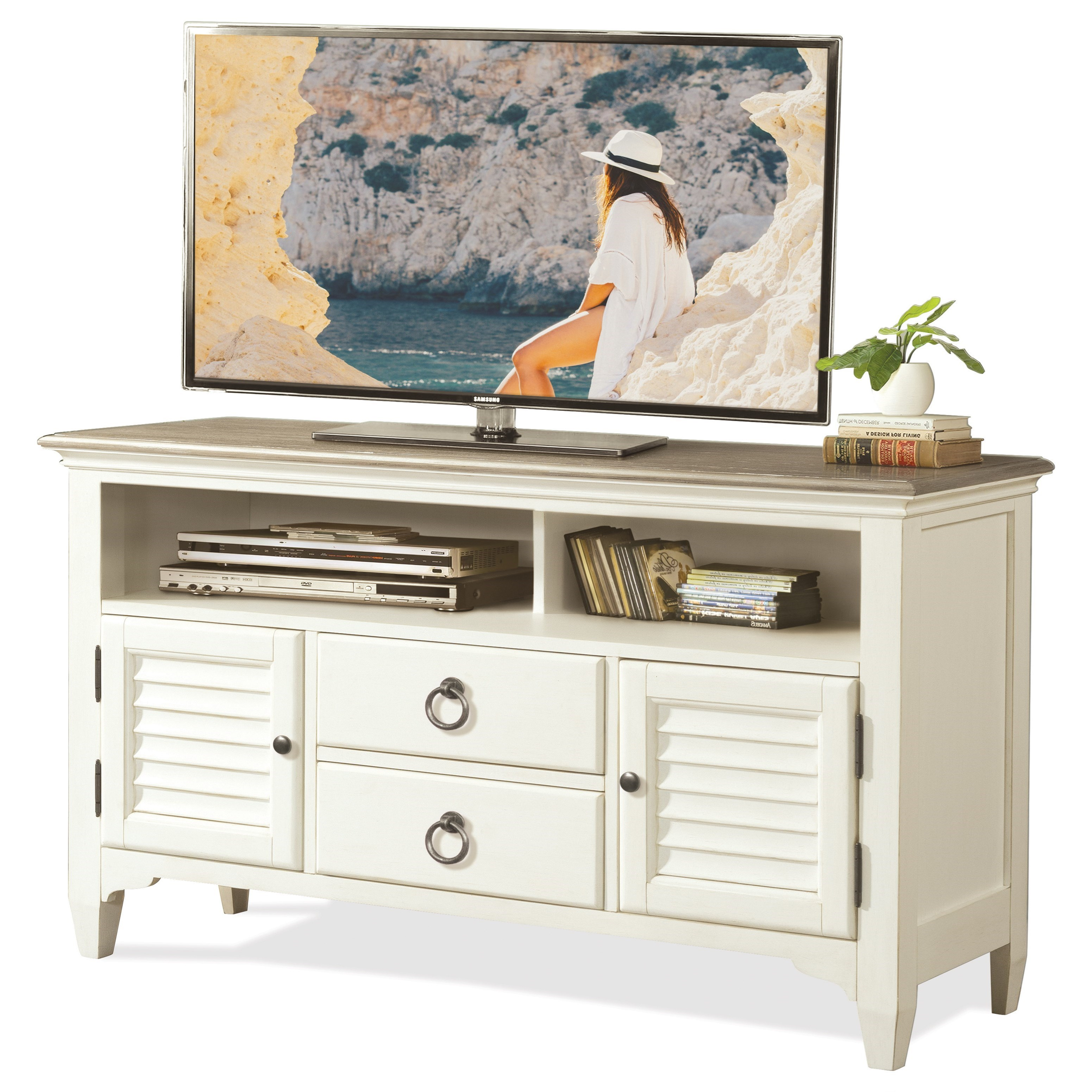 Myra 54-Inch TV Console by Riverside Furniture at Johnny Janosik