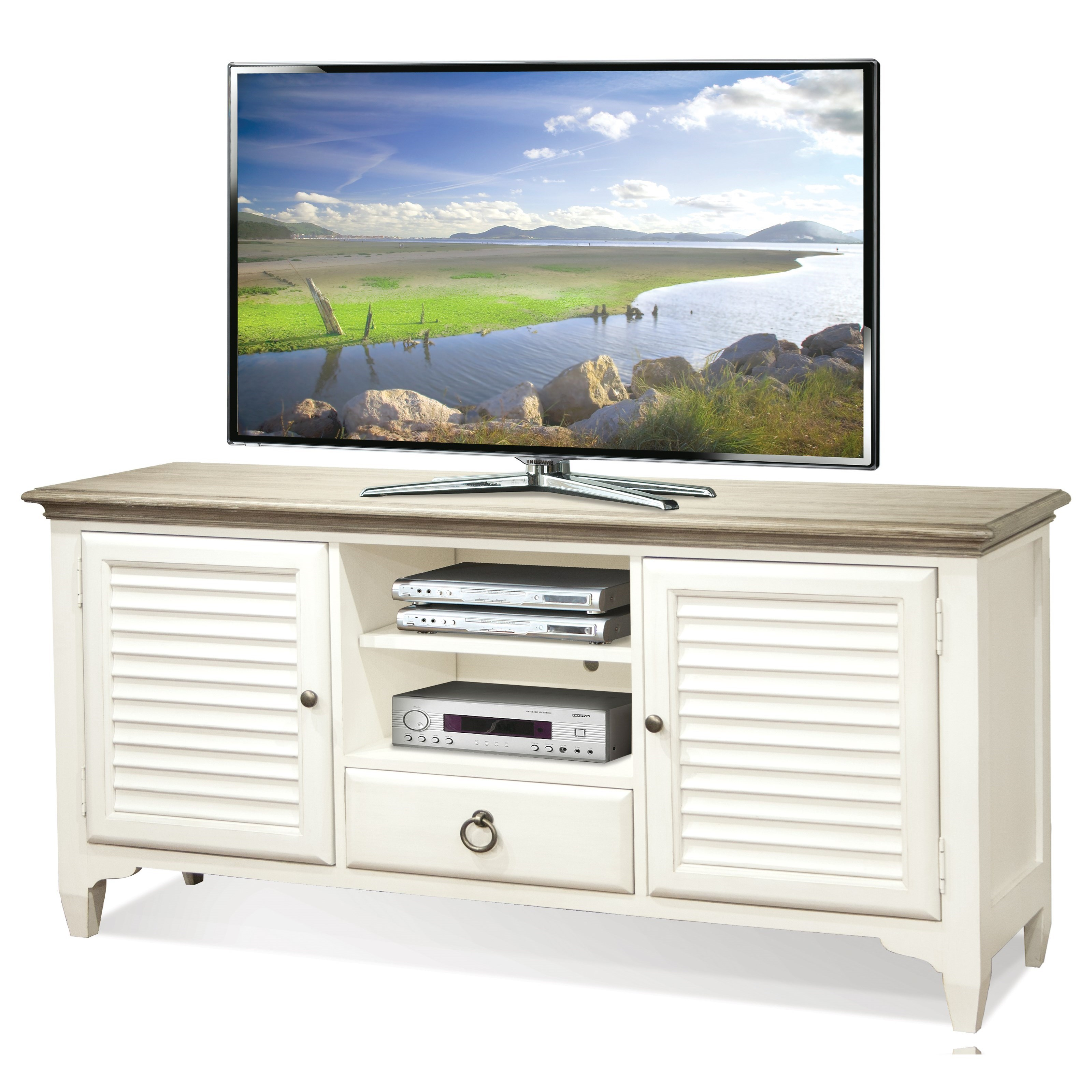 Myra 64-Inch TV Console by Riverside Furniture at Zak's Home