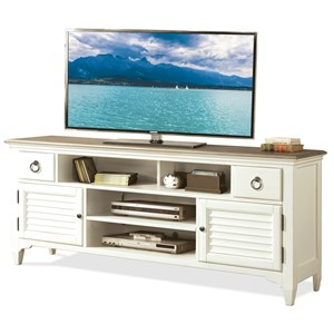 74-Inch TV Console with Louvered Doors