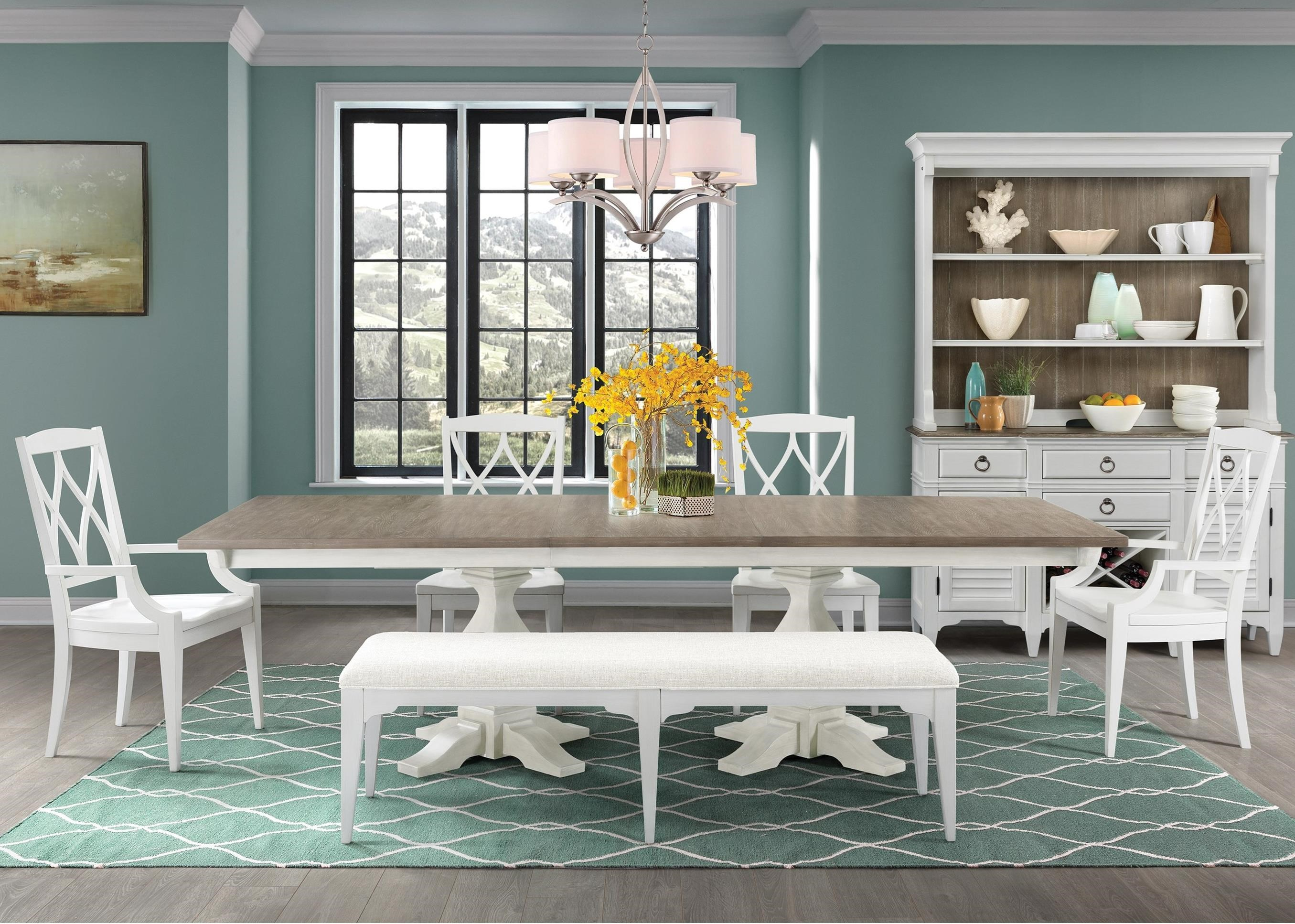Myra 6 Piece Table and Chair Set with Bench by Riverside Furniture at Johnny Janosik