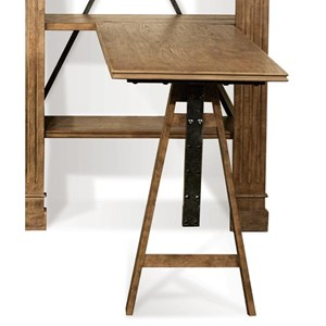 Adjustable Desk in Heathered Oak Finish