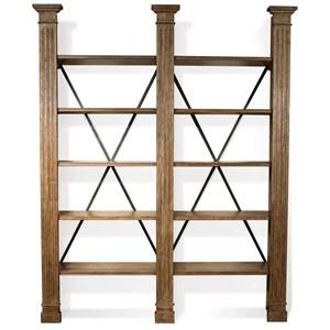 5 Shelf Bookcase in Heathered Oak Finish
