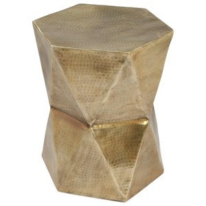 Glam Geometric Side Table