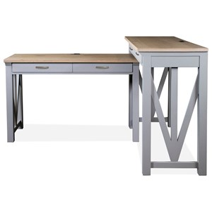 Modern Farmhouse Two-Piece Desk Group