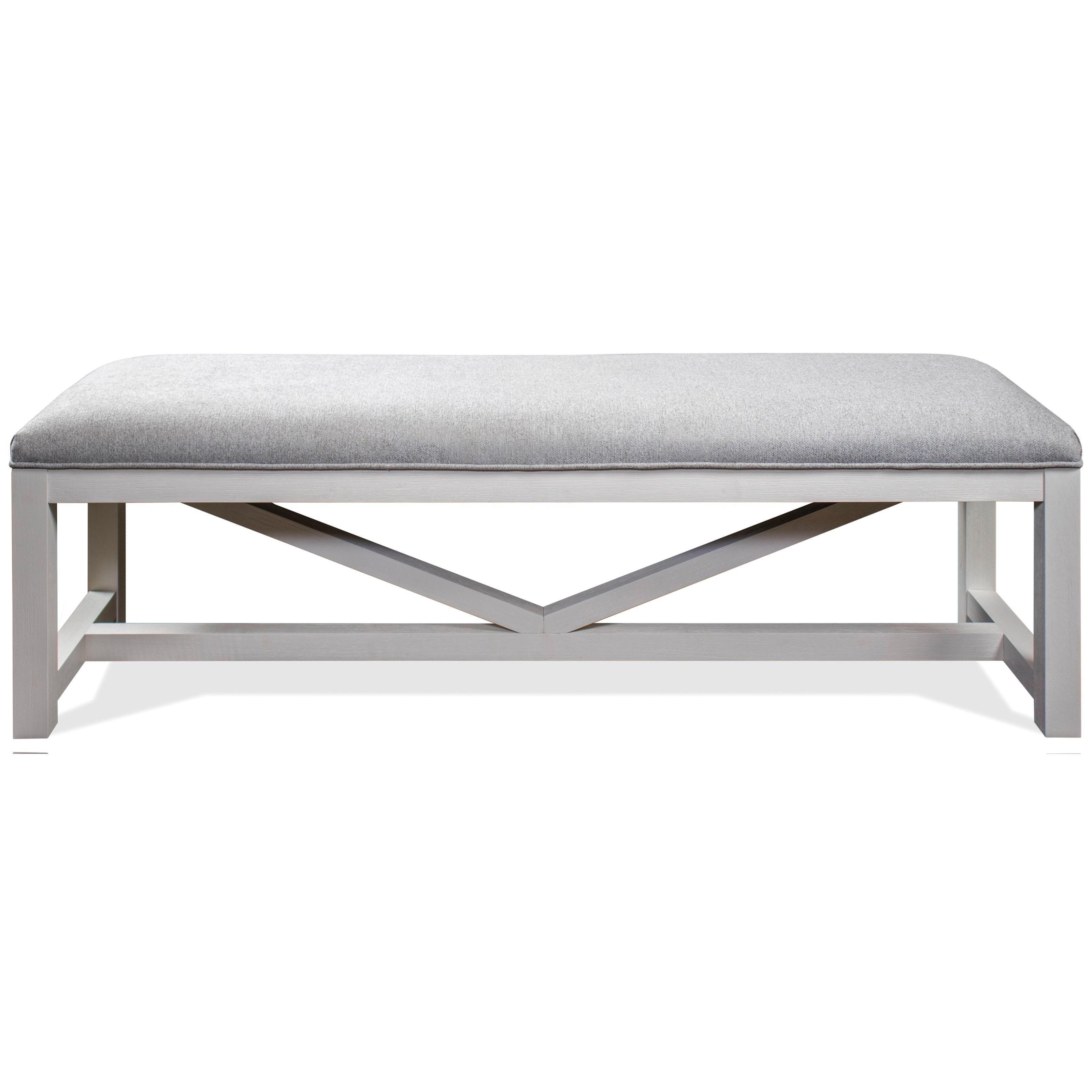 Osborne Upholstered Dining Bench  by Riverside Furniture at Zak's Home