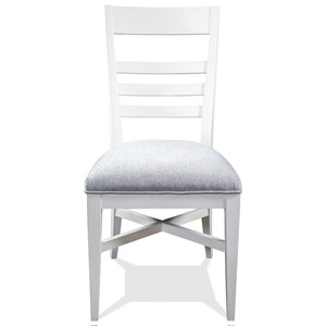 Modern Farmhouse Upholstered Ladder Back Chair
