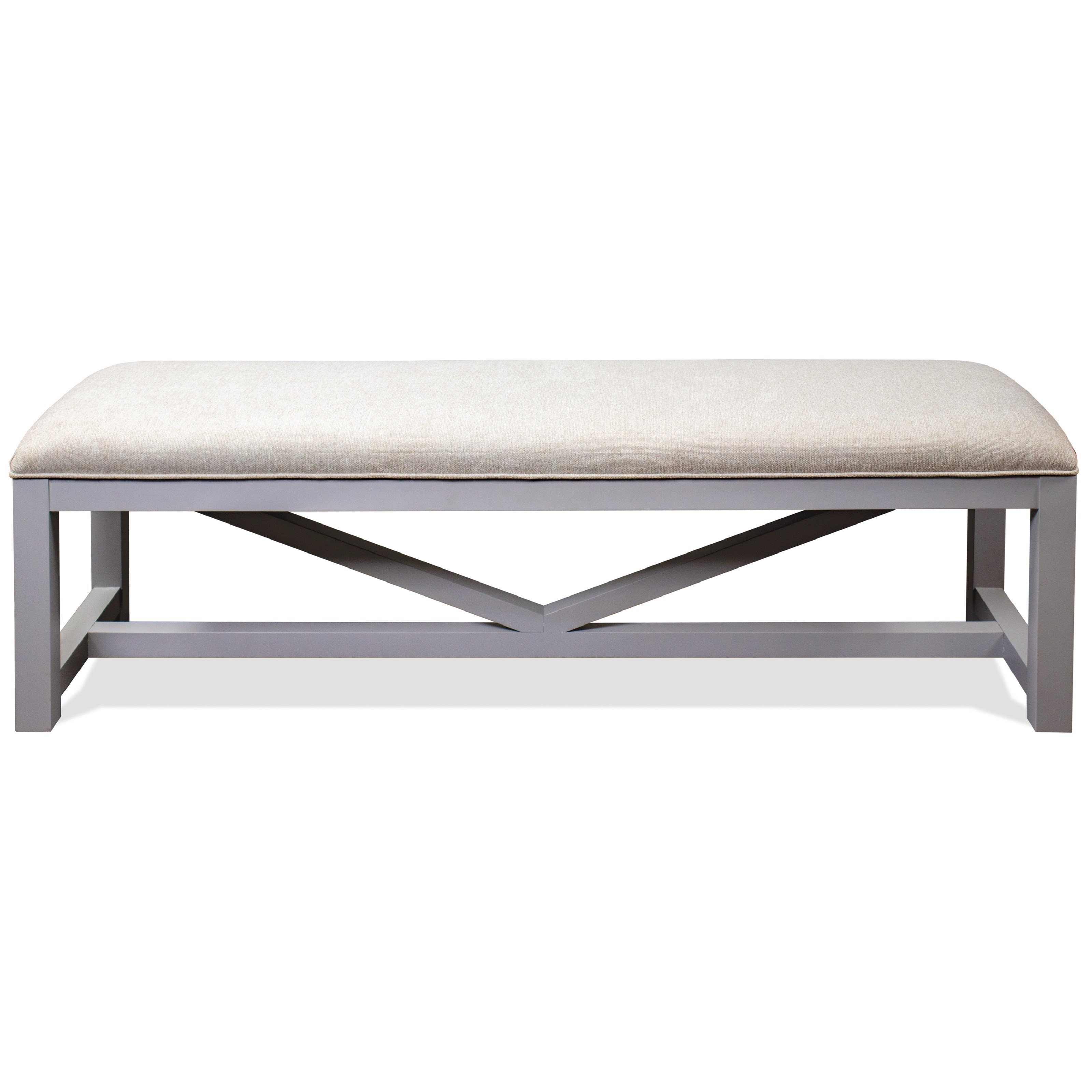 Osborne Upholstered Dining Bench by Riverside Furniture at Baer's Furniture