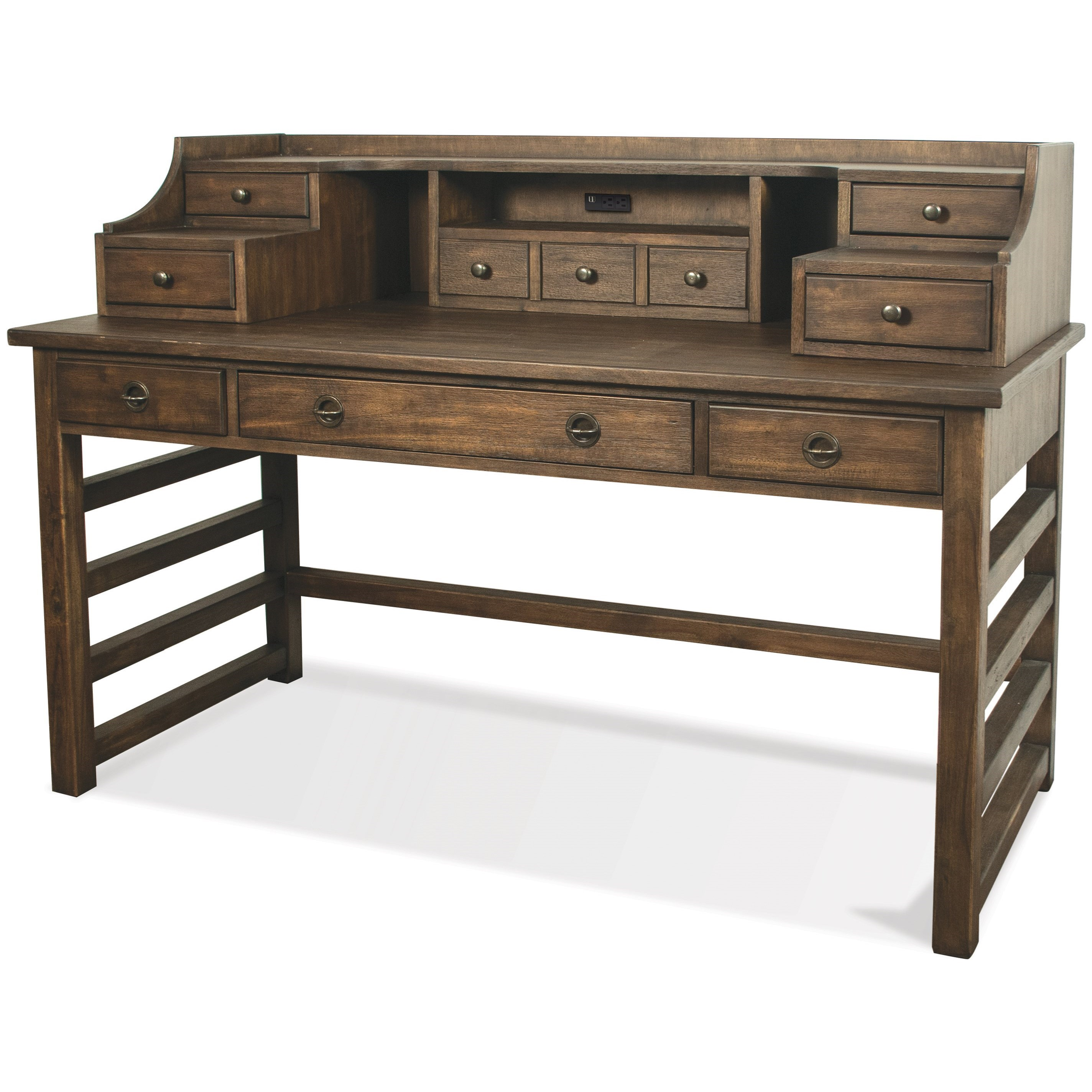 Perspectives Leg Desk With Hutch by Riverside Furniture at Johnny Janosik