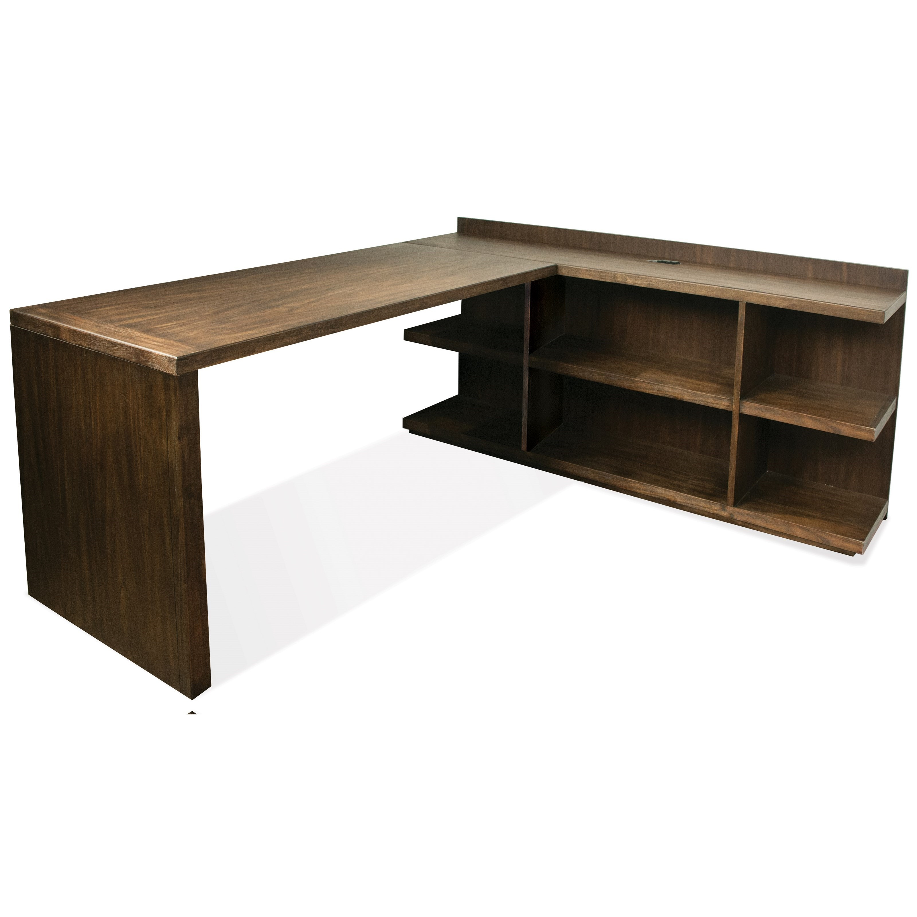Perspectives L Shape Desk by Riverside Furniture at Mueller Furniture