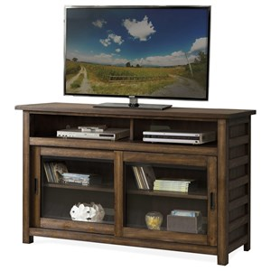 Rustic 54 Inch TV Console with Wire Management