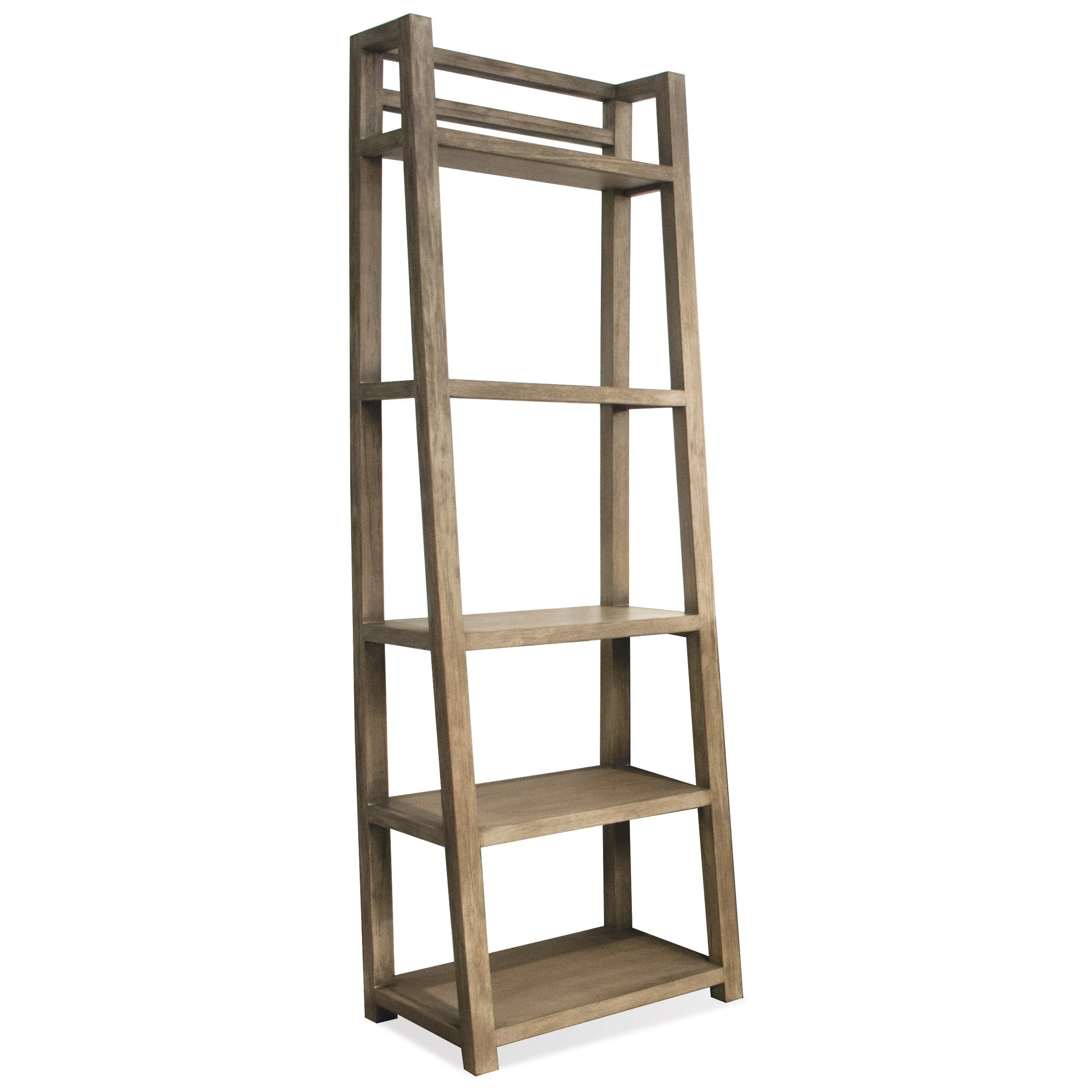 Perspectives Leaning Bookcase by Riverside Furniture at Johnny Janosik