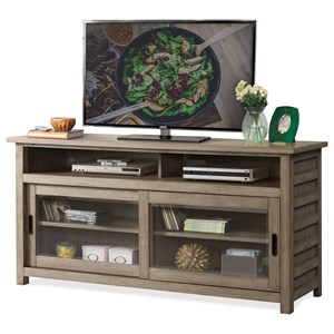 64-In TV Console with Sliding Doors