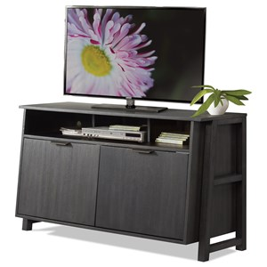 Entertainment Console with Enclosed Adjustable Shelving