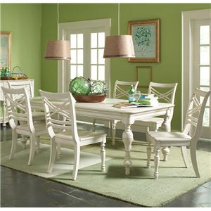 Riverside Furniture Placid Cove 7 Piece Table & Chair Set