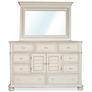 Riverside Furniture Placid Cove Dresser & Mirror Set