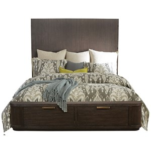 California King Tall Storage Bed with 2 Footboard Drawers