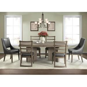 7-Piece Pedestal Dining Table Set