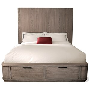 King Tall Storage Bed with 2 Footboard Drawers