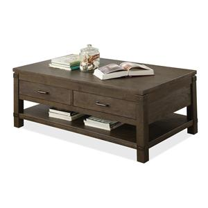 Rectangular Cocktail Table with 2 Drawers