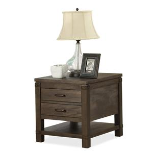 Rectangular End Table with 2 Drawers