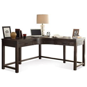 3 Drawer Curved Corner Desk