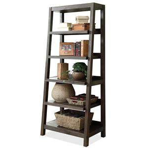 Canted Bookcase with 5 Shelves