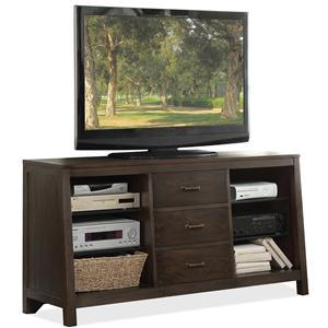 Riverside Furniture Promenade  Canted TV Console