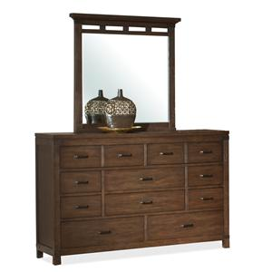 10 Drawer Dresser & Mirror Set