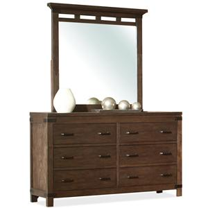 6 Drawer Dresser & Mirror Set
