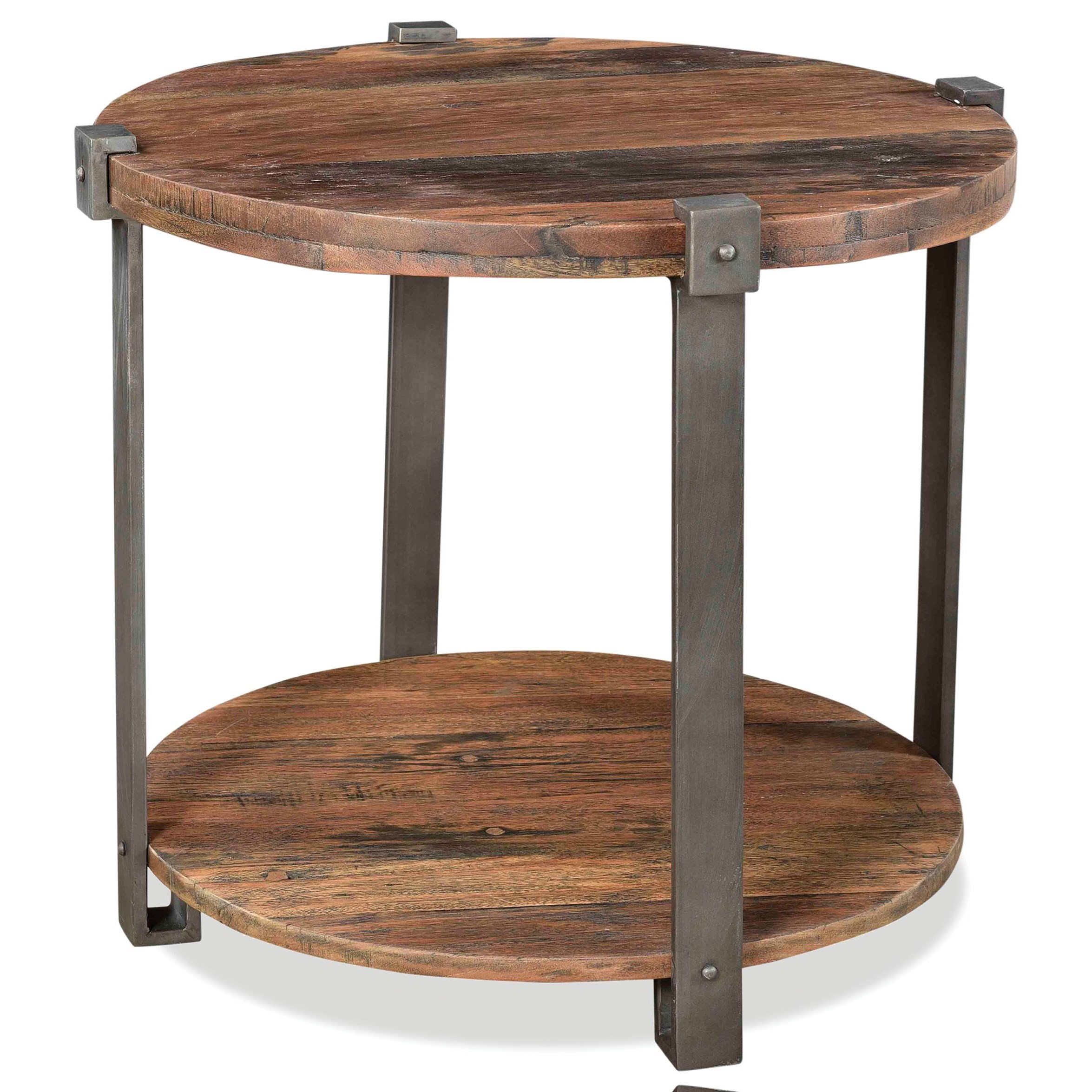 Quinton Round Side Table by Riverside Furniture at Mueller Furniture