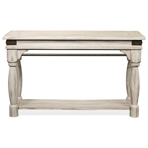 Sofa Table with Metal Accents