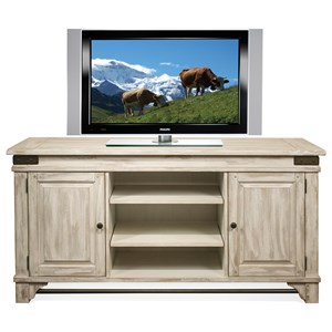 TV Console with Metal Accents