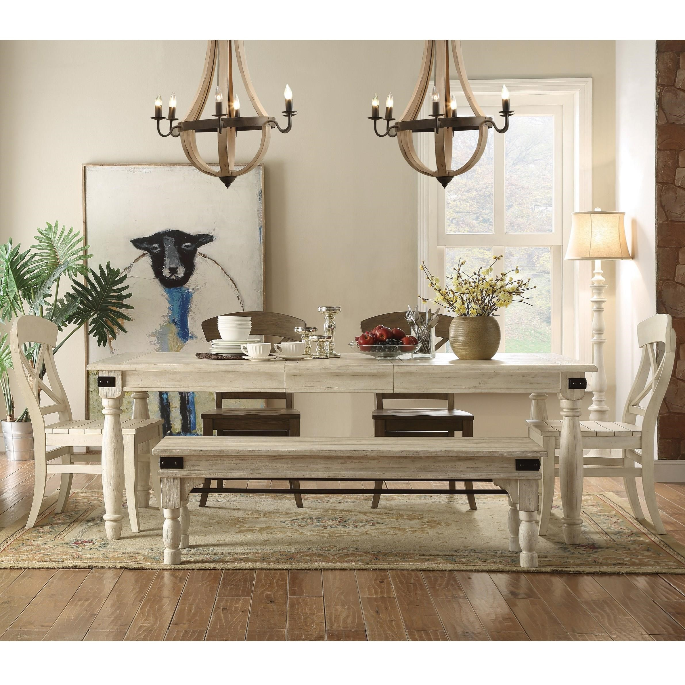 Regan Dining Set with Bench by Riverside Furniture at Zak's Home